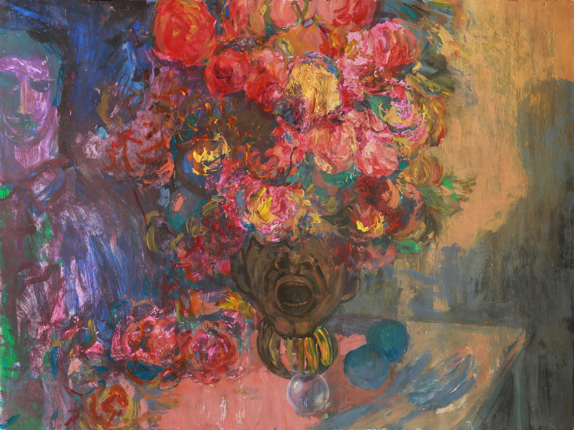 acrylic painting Screaming Vase