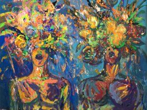acrylic painting Singers I