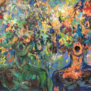 acrylic painting Singers II