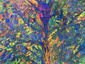 acrylic painting Selfportrait as a Tree