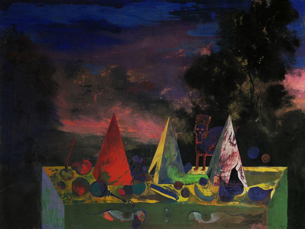 acrylic painting Metaphysical Still Life